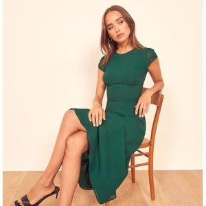 NWT Reformation Hayden Midi Dress - Emerald